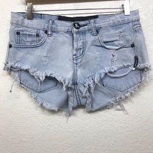 One Teaspoon Denim Jean Cut Off Shorts Size 26
